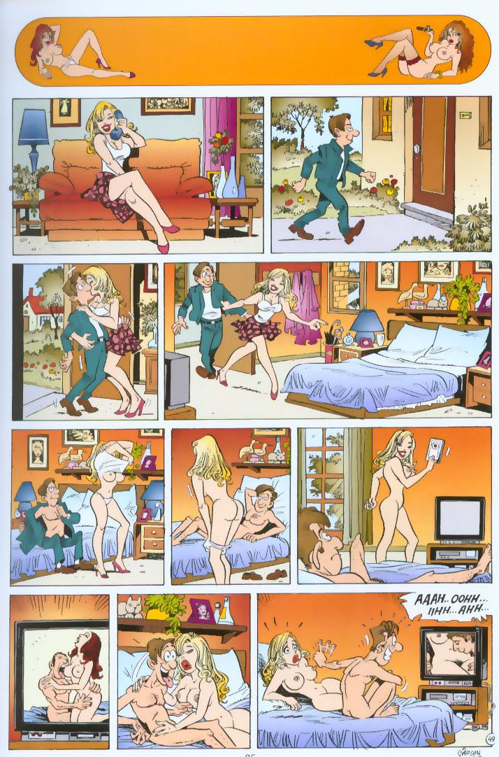 Смешные порно комиксы 15 фотография